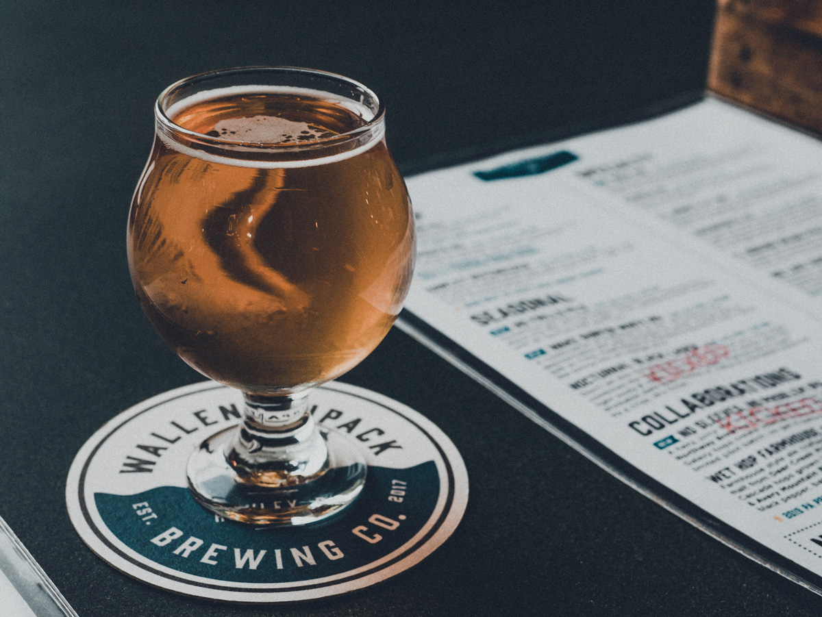 Photograph Taken By Jacob Lange of Beer Glass at Wallenpaupack Brewing Company